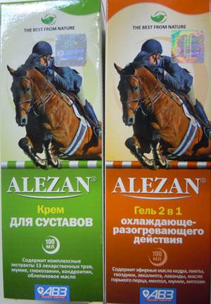 Крем гель для суставов Алезан